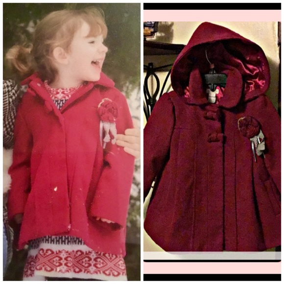 Monsoon Other - Monsoon Elegant Hooded Pea Coat. 18-24 month
